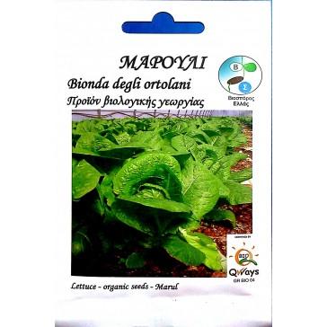 Μαρούλι Ίσιο Romana, Βιολογικός σπόρος