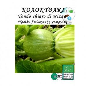 Κολοκυθάκι Tondo chiaro di Nizza, βιολογικοί σπόροι