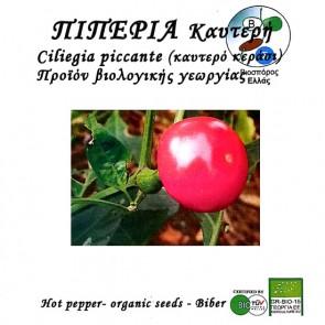 Πιπεριά καυτερή Ciliegia piccante, βιολογικοί σπόροι